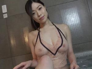 小田飛鳥|超過激☆大人気グラドルがお風呂でスケスケ過激着エロ☆